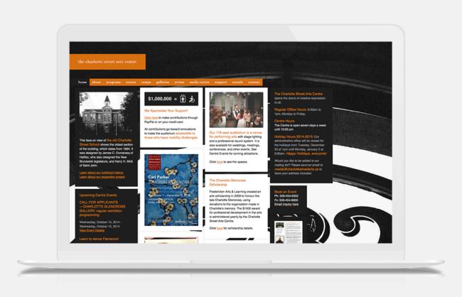 charlottestreetarts.ca / UI Design + Dev With NMD.CC
