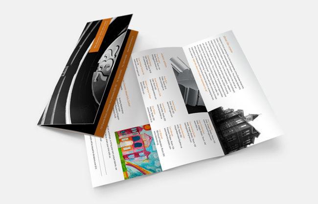 Charlottle Street Arts Centre / Tri Fold Brochure Design