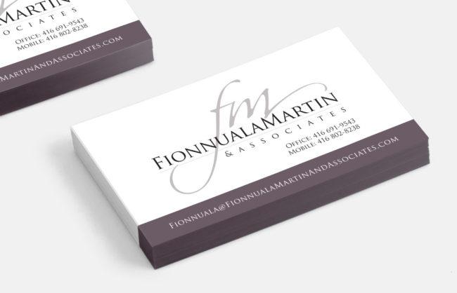 Fionnuala Martin / Logo + Business Card Design