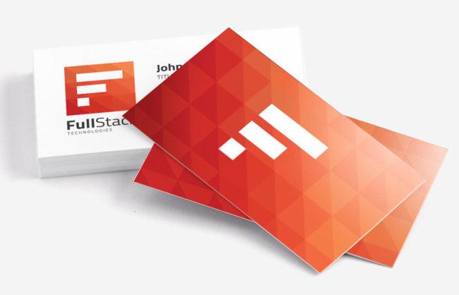 FullStack Technologies / Logo + Business Card Design