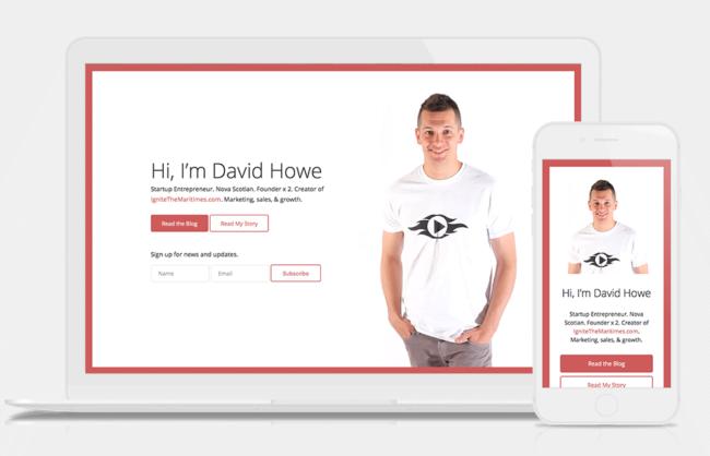 David Howe / Responsive Landing Page Design + Development
