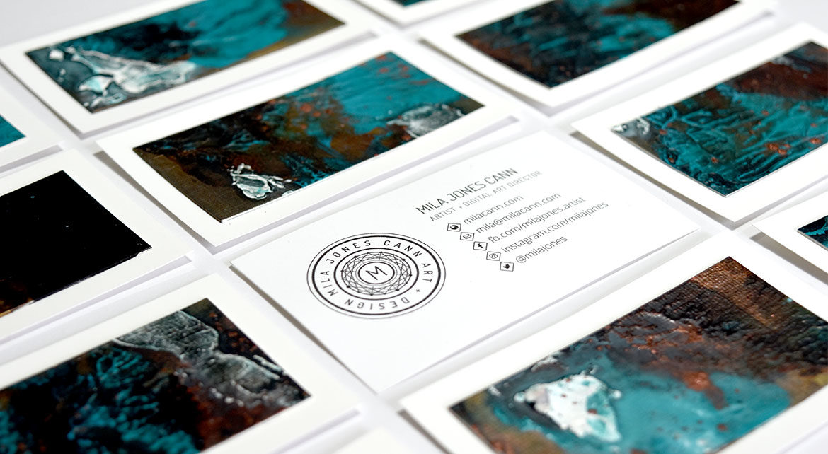 DIY Miniature Painting Business Cards for Artists